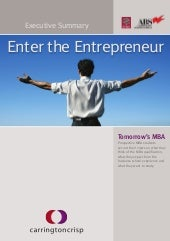 Tomorrows mba 2011 - Enter the Entr...