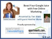 Toni Blake Webinar: Boost Your Goog...