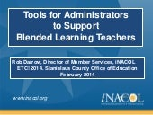 Tools for Blended Learning Administ...
