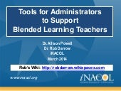 Tools for Administrators to Support...