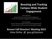 Tools for Building and Tracking Campus-Wide Student Engagement