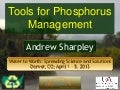 Tools for phosphorus management