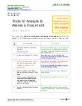 Tools to Analyze & Assess a Document