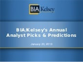 BIA/Kelsey's Top 10 Predictions for Local Media in 2013