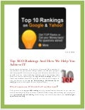 Top Ten SEO Rankings | Guaranteed Top 10 Ranking | Search Engine Optimization Ranking | Top 10 Search Engine Ranking | Yahoo marketing |Google Marketing | MSN  Marketing