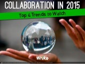 4 Team Collaboration Trends for 2015