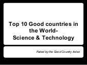 Top 10 Good Countries In The World - Science & Technology