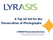 Preservation of Photographs- A top ...