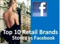 Top 10 Retail Brands by Sales per SqFt vs Facebook Fans