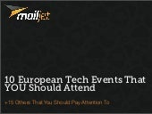 10 European Tech Events That YOU Sh...