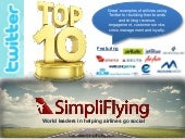 Top 10 Twitter Initiatives by Airlines