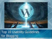Top10 Usability Guidelines for Bloggers