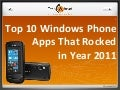 Top 10 windows phone apps