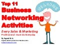 Top 11 Business Networking Activities Every Sales and Marketing Professional must do Everyday