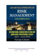 120 Developments in Risk Management...