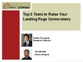 Top 5 Tests to Raise Your Landing P...