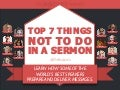 Top 7 Things NOT TO DO in a Sermon @therocketco