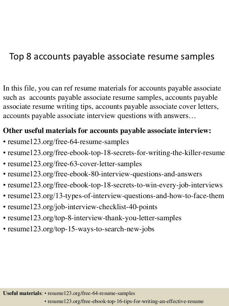Cover letter accounts payable examples – Accounts Payable Job Description