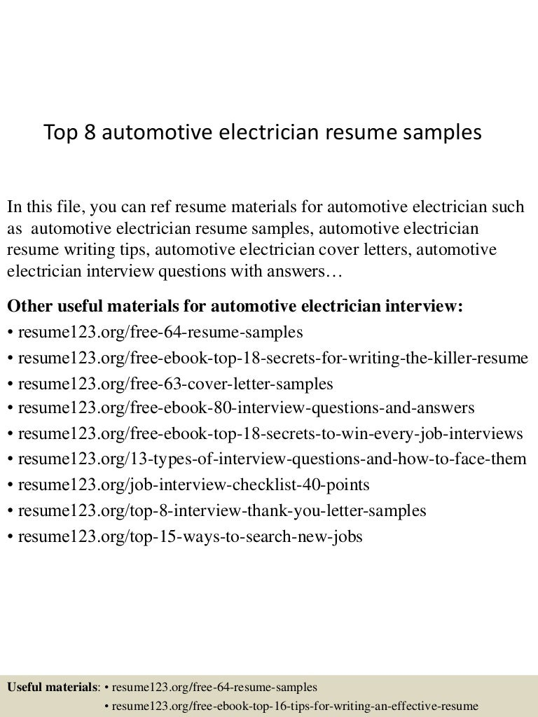 Sample Cover Letter Electrician Image collections - Cover Letter Ideas