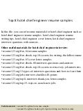 hotel chief engineer interview questionstop  hotel chief engineer resume samples