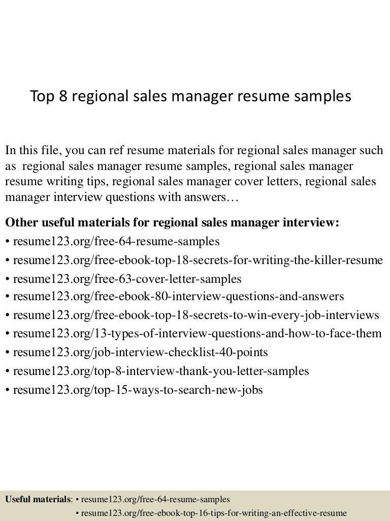 Effective Sales Manager Resume