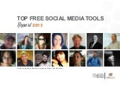 Top free social media tools Report 2013