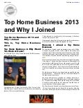 Top home business 2013 and why i joined... Please Like and Share