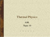 Topic 10   Thermal Physics 2012