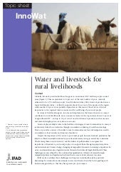 Water and Livestock for Rural Livelihoods