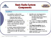 Nav Topic 3 radio components
