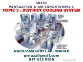 Topic 3 District Cooling System