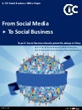Social Business Development Roadmap in China