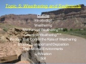 Topic 5 weathering and sediments1