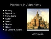 Topic Pioneers In Astronomy (2008)