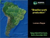Brazilian pig meat production: past...