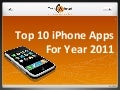 Top 10 iPhone Apps For Year 2011