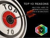 Top 10 Reasons to Attend AVI 2014 Tech Showcases