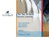Top Ten Open Source Licenses