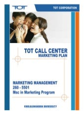 TOT Contact Center Marketing Plan