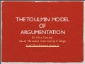Toulmin Model of Argumentation