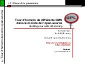 Tour d'horizon des CMS Open Source