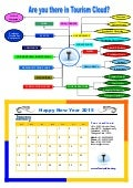 Tourism cloud   new year greetings - january calender