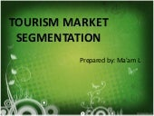 Tourism market segmentation
