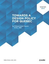 Towards a Design Policy for Quebec