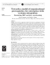 Towards A Model Of Organisational P...