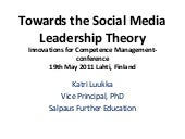 Towards the social media leadership...