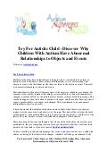 Toy for autistic child   discover why children with autism have abnormal relationships to objects and events