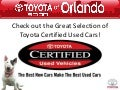 Our Toyota Certified Used Car Dealership In Orlando