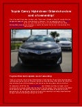 Toyota Camry Hybrid near Orlando has low cost of ownership!