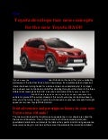 Toyota develops two new concepts for the new Toyota RAV4